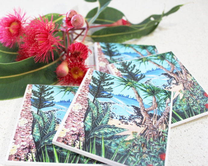 Art by Lee Murphy (Views of the Cove -Burleigh Heads) - Set of 4