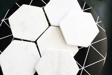 Custom White Marble Inspirational Coasters (set of Six)
