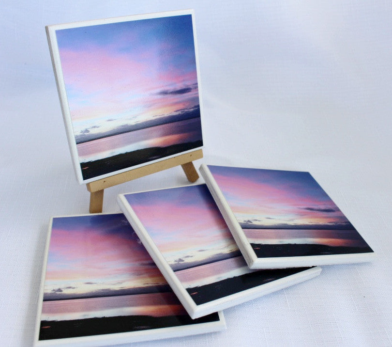 Photography by Nardia Grant (Pink sunset) - Set of 4
