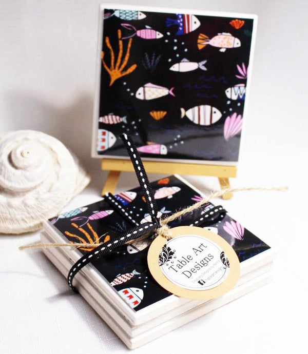Art by Black Lamb Studio (Underwater) - Set of 4