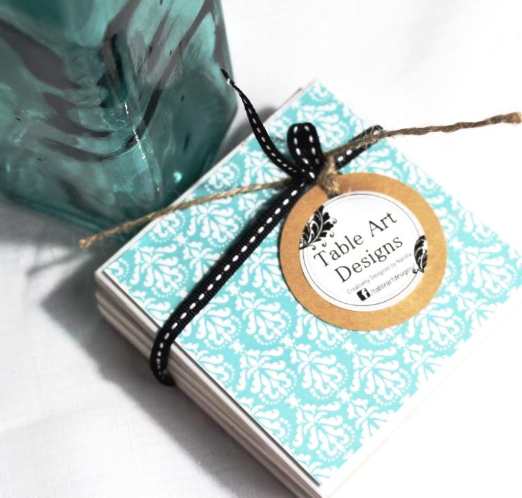 Damask light Aqua