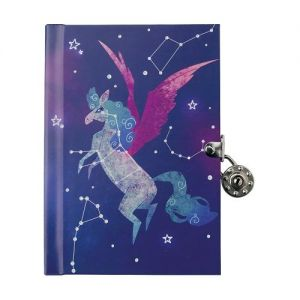 Young Hearts will be inspired with our Pegasus Constellation Lock and Key Diary.