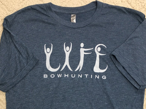 Men's BOWHUNTING Life Force Energy T-Shirt Blue or Black