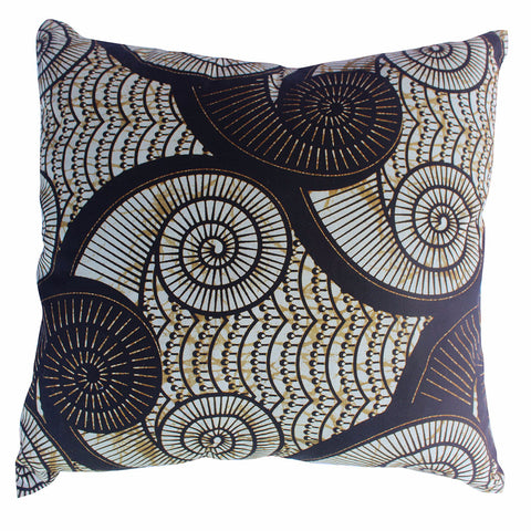 African Wax Print - Black Shell