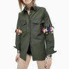 Army Green Tassel Punk Style Jacket