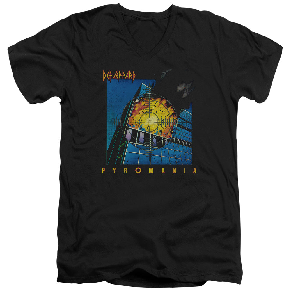 Def Leppard - Pyromania Short Sleeve Adult V Neck