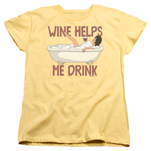 Bobs Burgers - Wine Helps Short Sleeve Women's Tee
