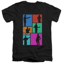 Archer - Silhouettes Short Sleeve Adult V Neck
