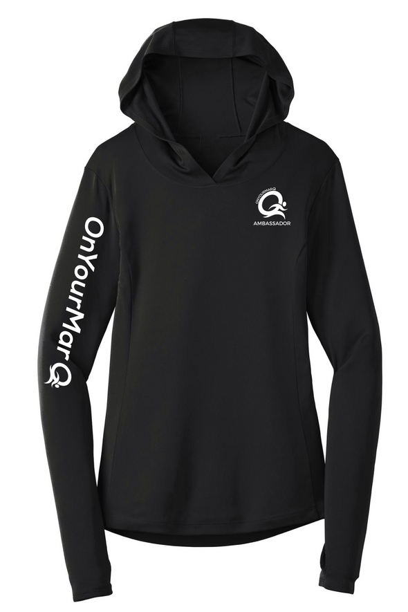 Ambassador - Women's Performance Hooded Pullover - OnYourMarQ Running Co.