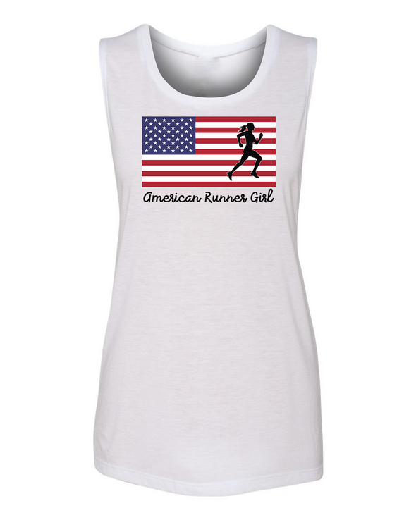 American Runner Girl - Women's Muscle Tank - OnYourMarQ Running Co.