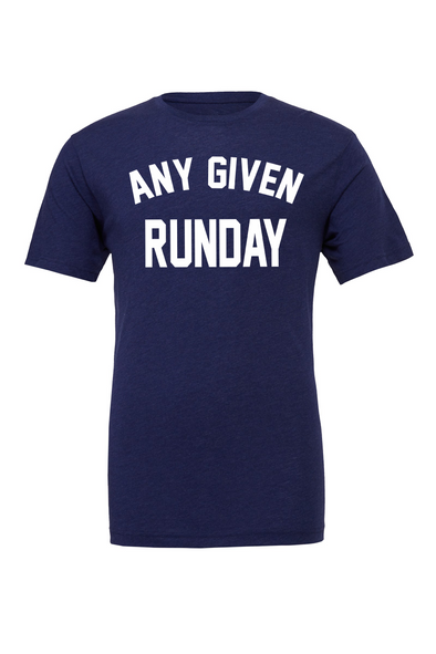 Any Given Runday - Unisex Triblend Tee - OnYourMarQ Running Co.