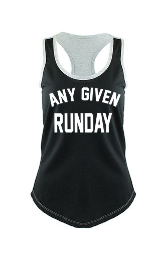 Any Given Runday- Black/Grey Colorblock Racerback Tank - OnYourMarQ Running Co.