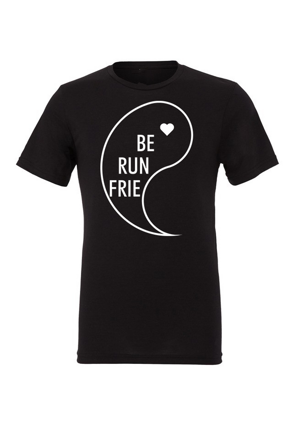 "Best Running Friends 1 ""YIN"" - Unisex Triblend Tee - OnYourMarQ Running Co."