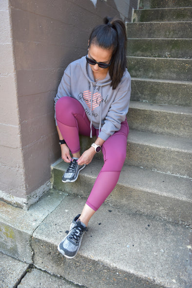 It's a Runner Girl Thang!™ - Cropped Fleece Hoodie - OnYourMarQ Running Co.