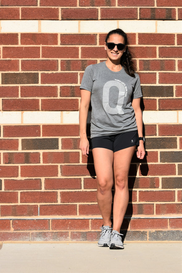 Turn Left, Run Fast - Unisex Triblend Tee - OnYourMarQ Running Co.