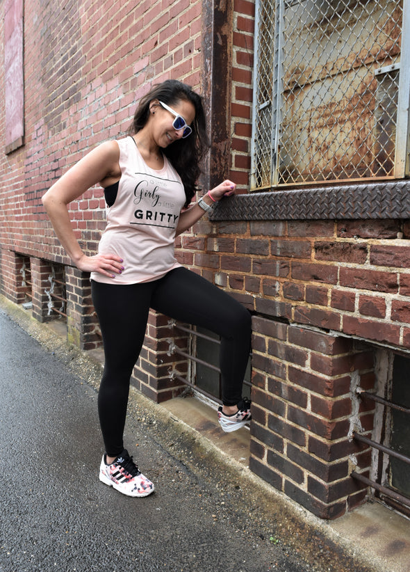 Girly & Gritty - Muscle Tank - OnYourMarQ Running Co.