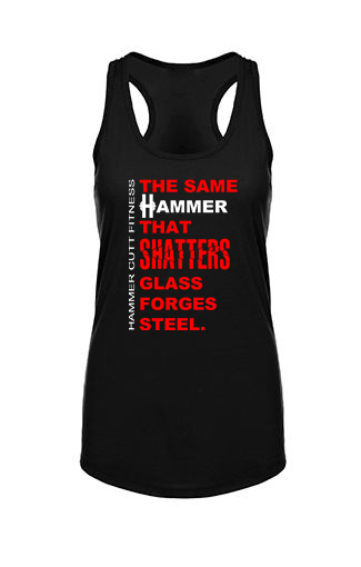 Hammer Shatters Glass- Racerback Tank - OnYourMarQ Running Co.