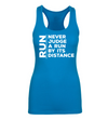 Never Judge a Run by it's Distance - Racerback Tank