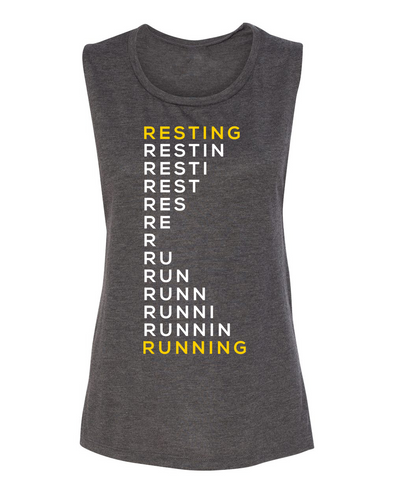 Resting Running - Muscle Tank - OnYourMarQ Running Co.