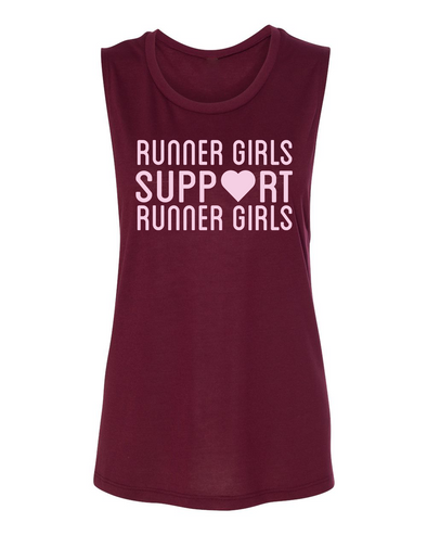 Runner Girls Support Runner Girls - Muscle Tank - OnYourMarQ Running Co.