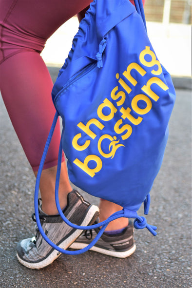 Chasing Boston®️ Drawstring Bag - OnYourMarQ Running Co.