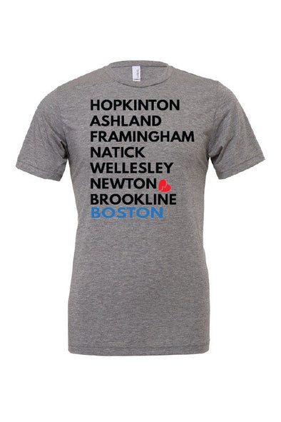 Boston Marathon Eight & Heartbreak! - Unisex Triblend Tee - OnYourMarQ Running Co.