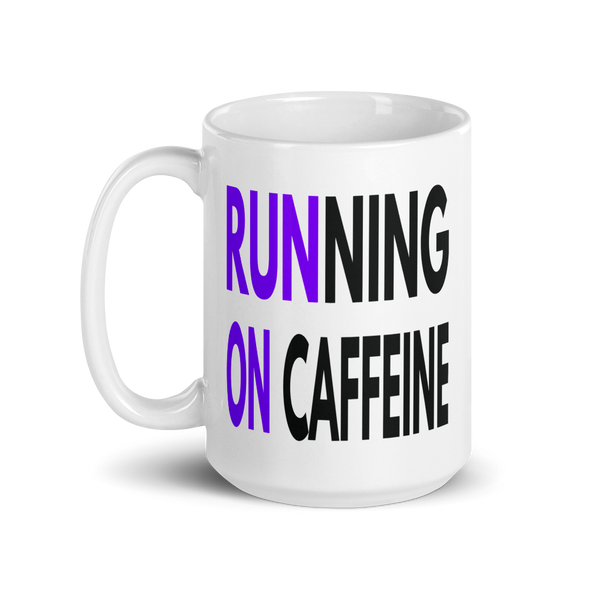 Running on Caffeine - Purple - OnYourMarQ Running Co.