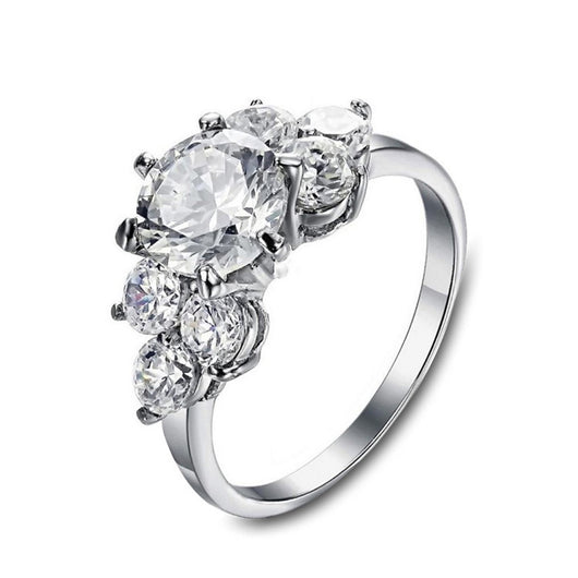 Elegant Crystal Flower Ring-Elegant Ring Co.