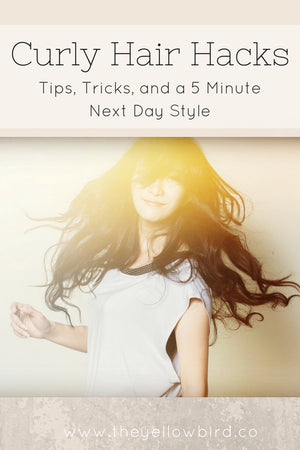 curly hair hacks yellow bird