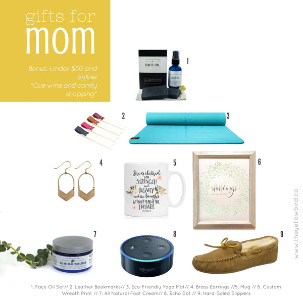 2017 Holiday Gift Guide for MOM (a little bird told me she would LOVE these things)
