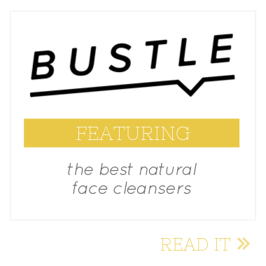 bustle best natural face cleansers feature