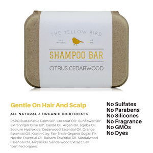 Citrus Cedarwood Shampoo Bar