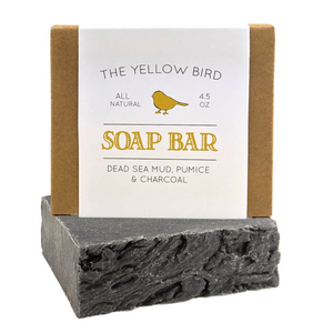 Dead Sea Mud, Pumice, Charcoal Soap Bar
