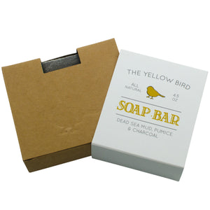 the yellow bird all natural dead sea mud pumice soap bar