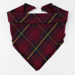 Mistletoe Plaid Fringe Bandana