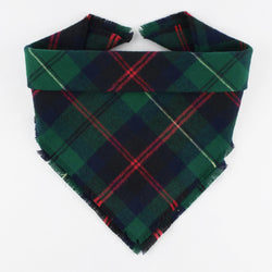 Evergreen Plaid Fringe Bandana