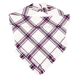 Berry Plaid Fringe Bandana