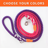 "Ombre Custom Dual Color 3/8"" Rope Leash (6ft)"