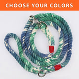 "Tye Dye Custom Dual Color 3/8"" Rope Leash (6ft)"