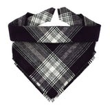 Midnight Plaid Fringe Bandana