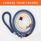"Ombre Custom Single Color 3/8"" Rope Leash (6ft)"