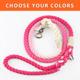 "Ombre Custom Single Color 1/2"" Rope Leash (4ft)"