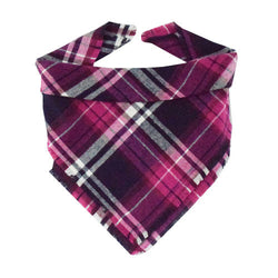 Sugarplum Plaid Fringe Bandana