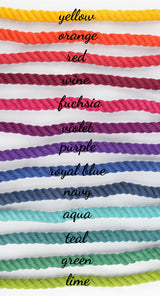 "Tie Dye Custom Single Color 1/2"" Rope Leash (4ft)"