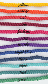 "Ombre Custom Dual Color 1/2"" Rope Leash (6ft)"