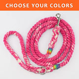 "Tie Dye Custom Single Color 3/8"" Rope Leash (5ft)"