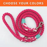 "Solid Custom Color 3/8"" Rope Leash (4ft)"