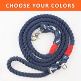"Solid Custom Color 1/2"" Rope Leash (6ft)"