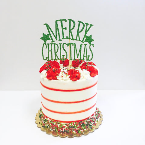 Christmas Stripes and Sprinkles Cake