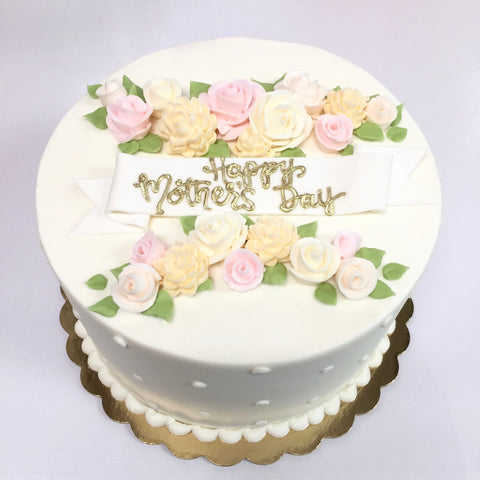Pastel Floral Mother's Day Cake